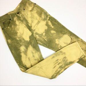 Vintage Custom Hi-Rise Acid Wash Jeans